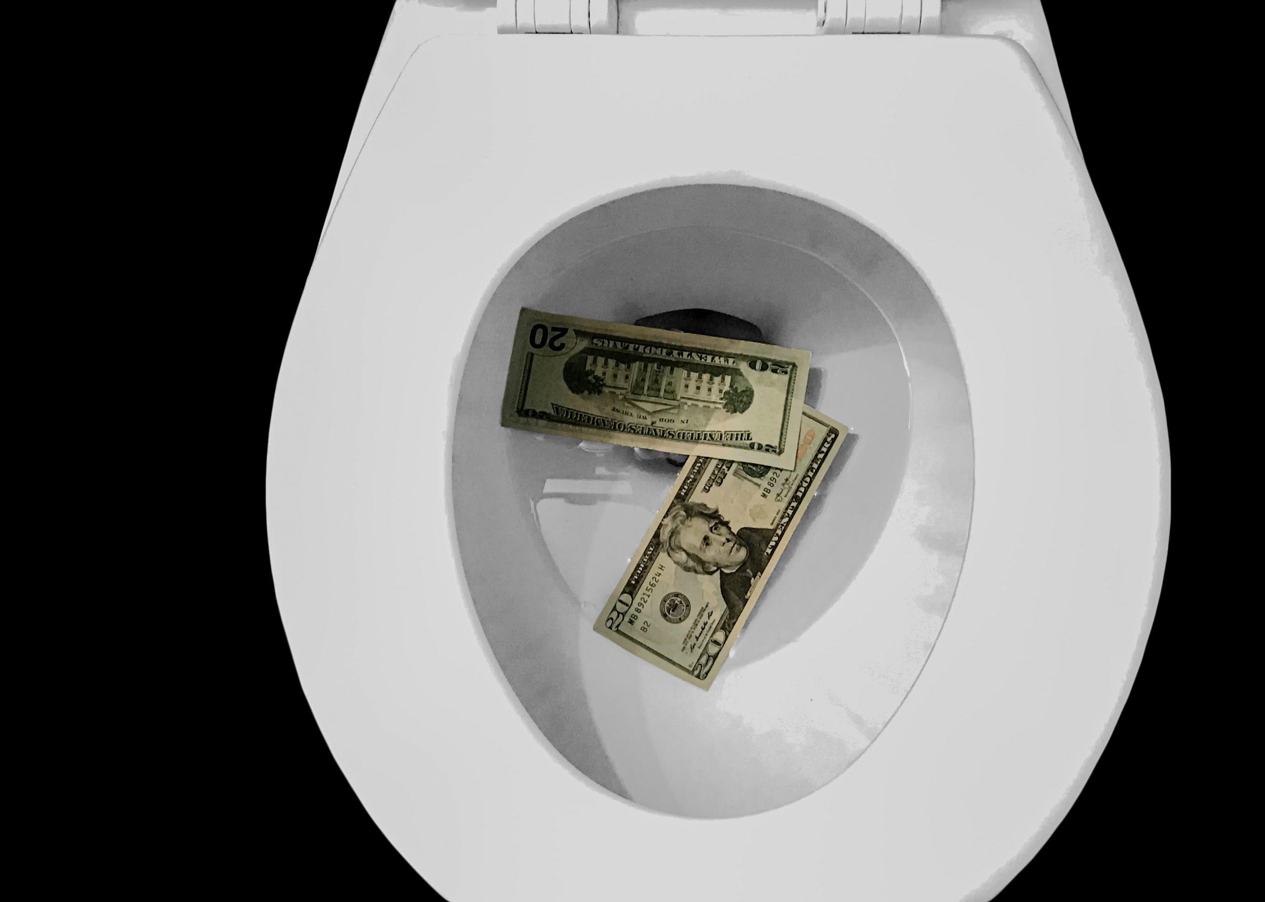 leaky toilet water waste